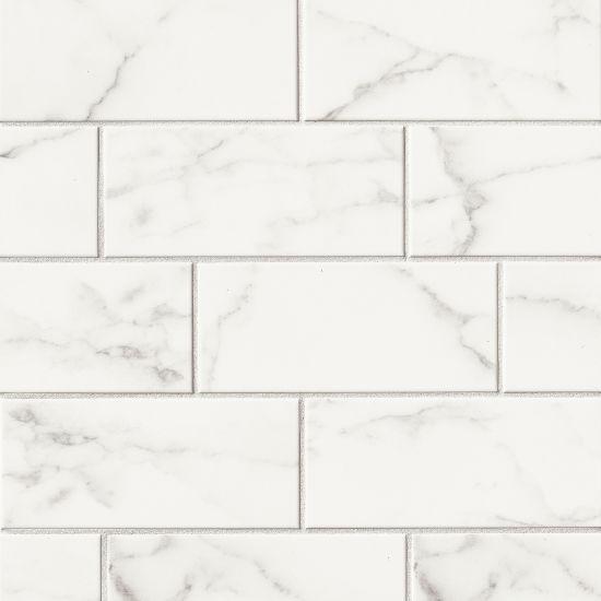 Brooklyn Statuario Glossy 4.25x10 Ceramic  Tile
