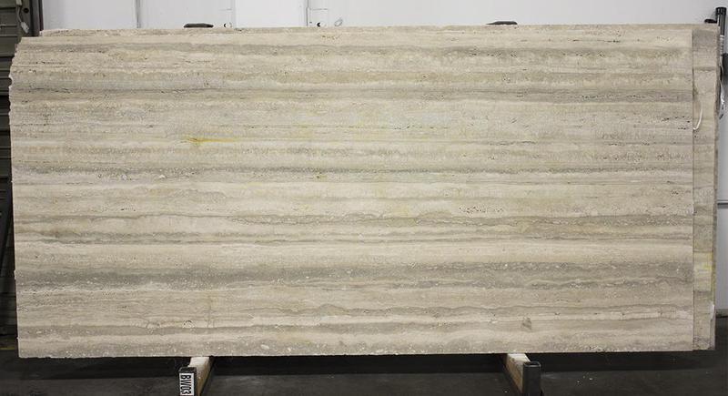 Travertine Slabs Silver 0.75 in Filled Natural Stone Slab