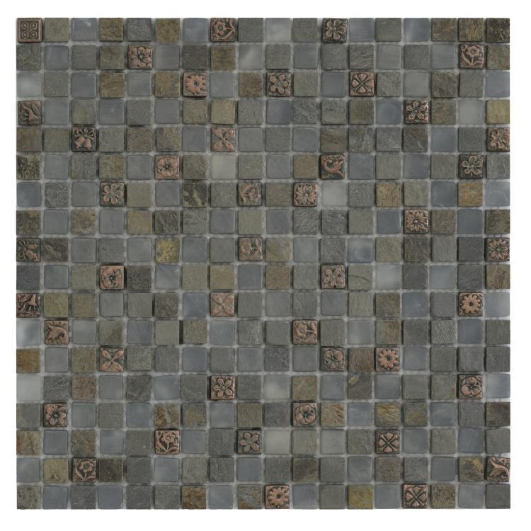 Milano Aries Slate Glass  Mosaic