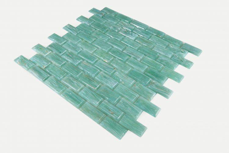 Hot Green Brick  Glass  Mosaic