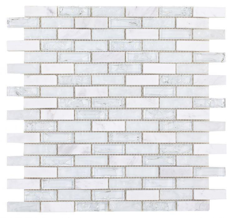 Icy Stack Linear  Glass  Mosaic