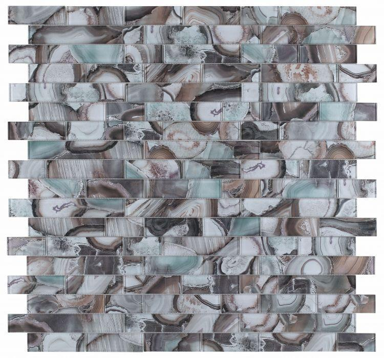 Shell Casale Forest Subway Glossy Glass  Mosaic