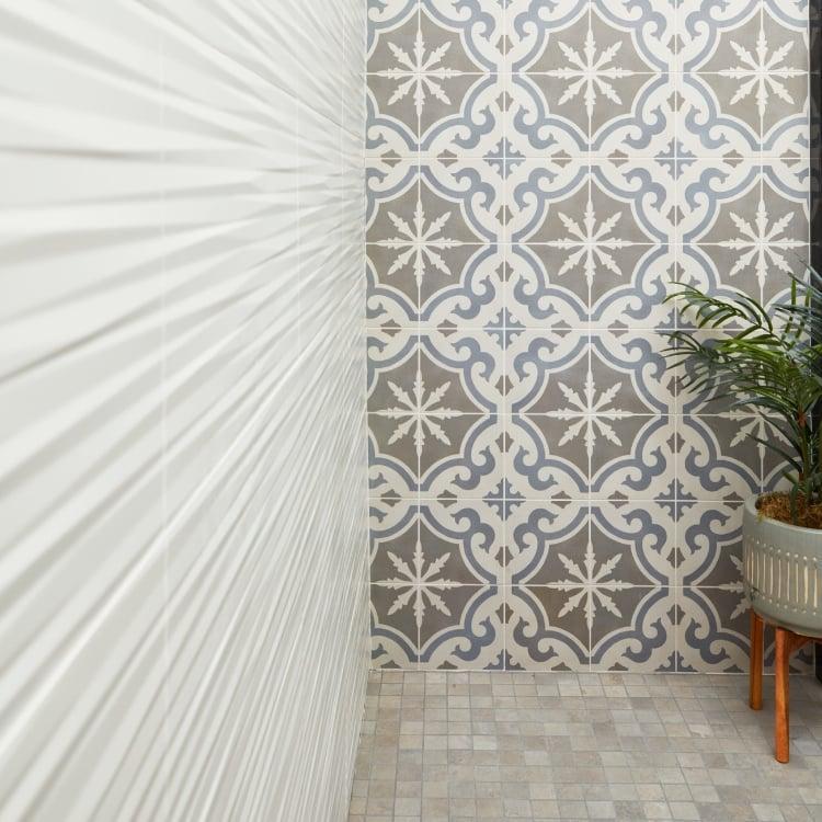 3d Wall Series White Blade 12x22, Matte, Rectangle, Ceramic, Tile