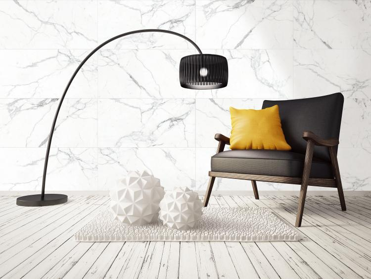 Carrara Premium Matte, Glazed 18x36 Porcelain  Tile