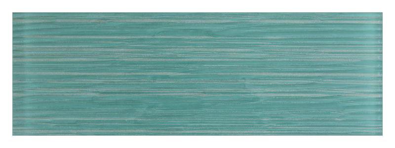 Ice Stream Aqua Blue Glossy 4x12 Glass  Tile