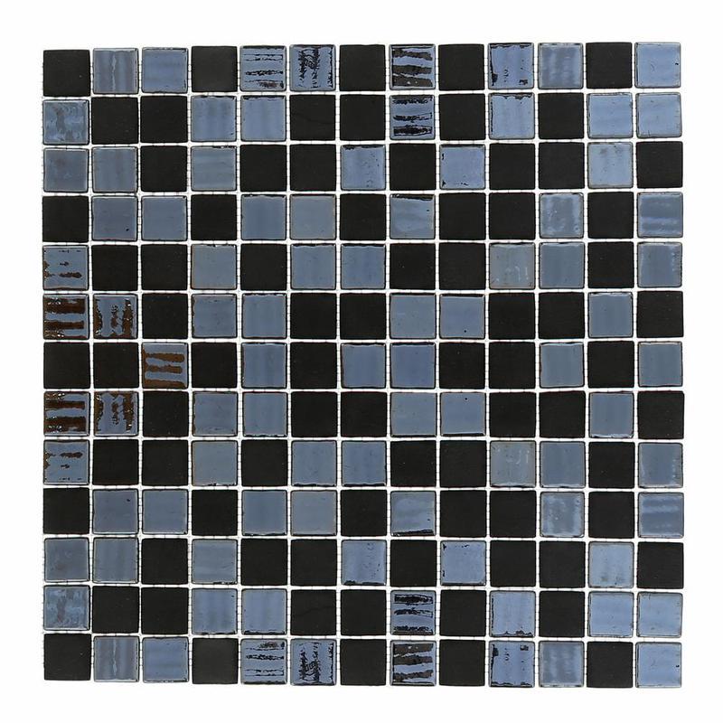 Cosmos Negro 1x1 Square Glossy, Matte Glass  Mosaic