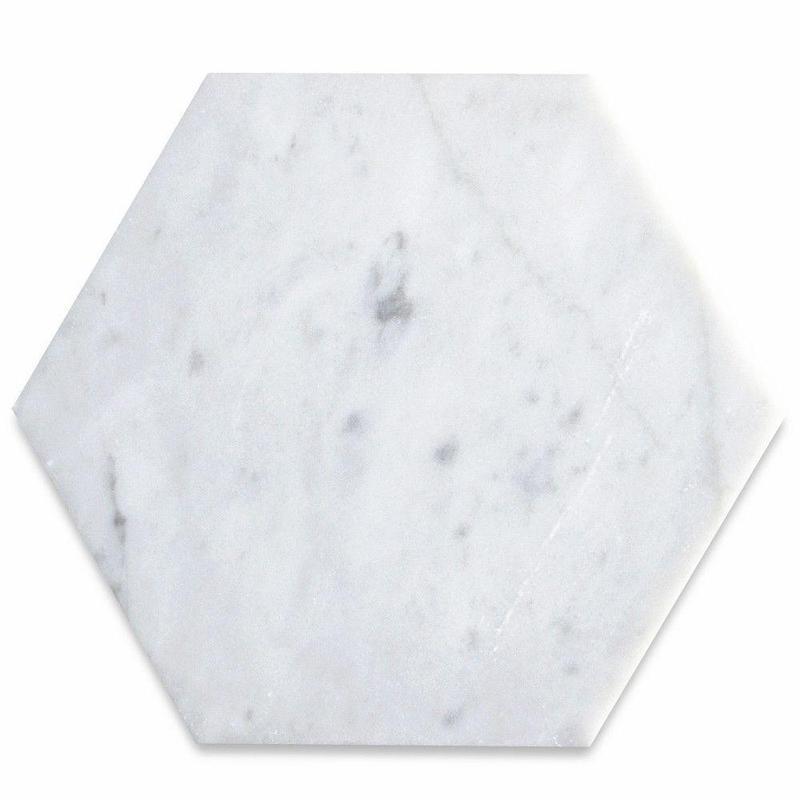 White Carrara Marble Tile 6x6 Honed