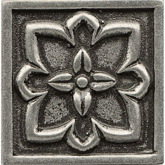Ambiance Romanesque Pewter Glossy 2x2 Resin  Trim