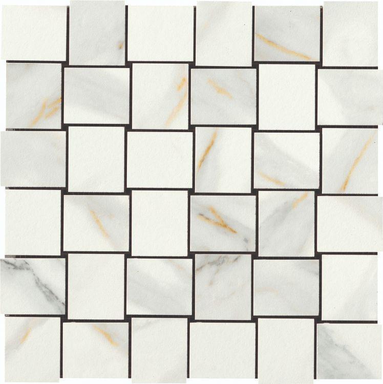 Selezione Marmi Macchiavecchia Weave Polished, Glazed Porcelain  Mosaic