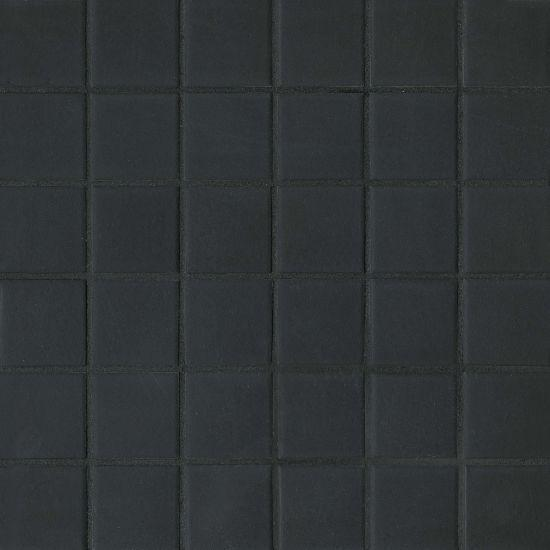 True Black Linktec Dot Mounting 2x2 Square Matte Porcelain  Mosaic