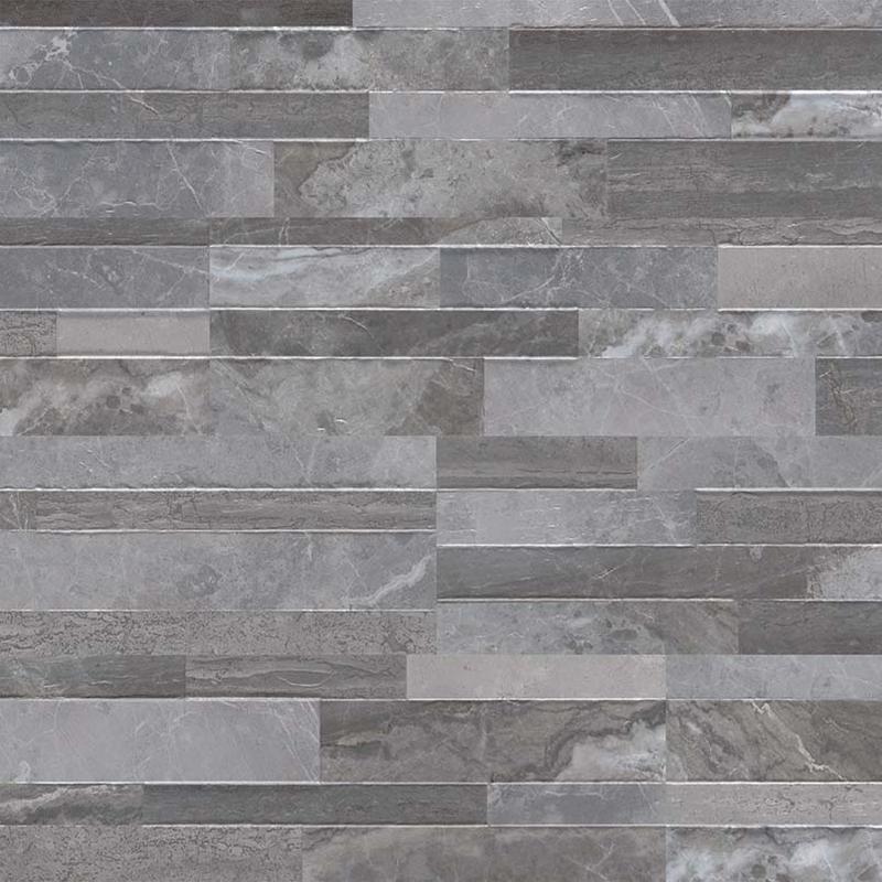 Dekora Porcelain Palisade Grey Panel 6x24, Matte, Light Grey, Ledger-Panel, Tile