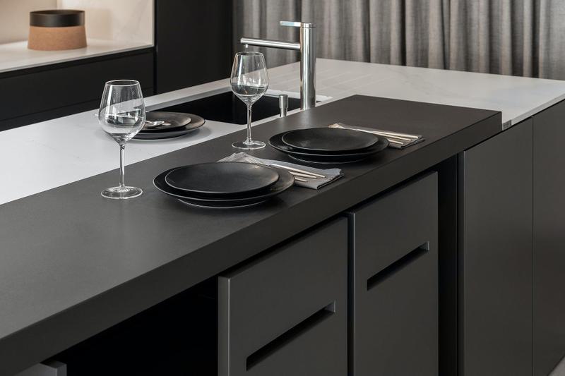 Group 2 Solid Tiles Domoos Standard Size 28x28, Smooth-Matte, Black, Square, Porcelain, Tile