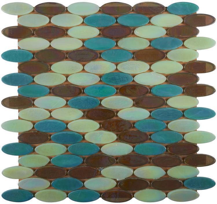 Laguna Creek Circular  Glass  Mosaic