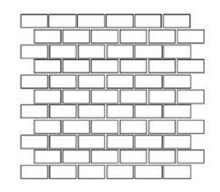 Limestone Champagne 1x2 Brick Split-Face   Mosaic (Discontinued)