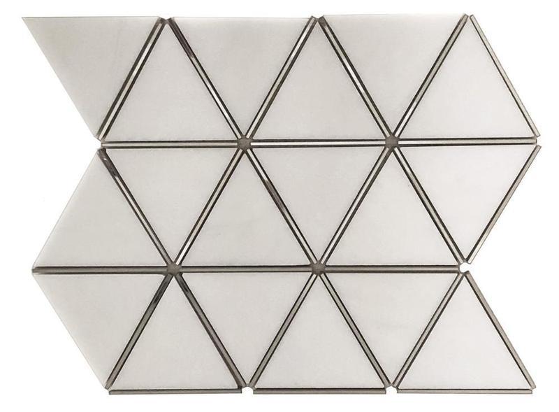 Prism Thassos Triangle Matte Mixed  Mosaic