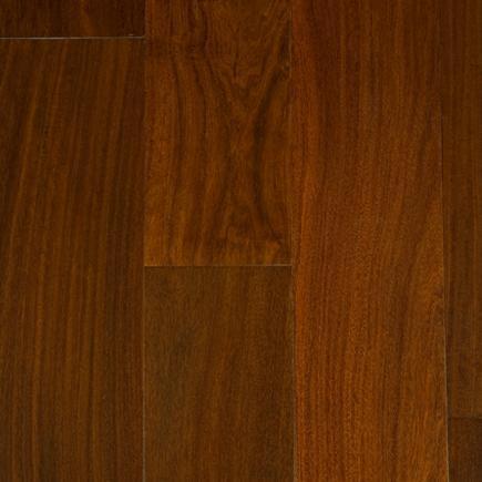 Exotics Santos Mahogany Natural 4.75xfree length, Hand-Scraped, Engineered-Hardwood, Wood