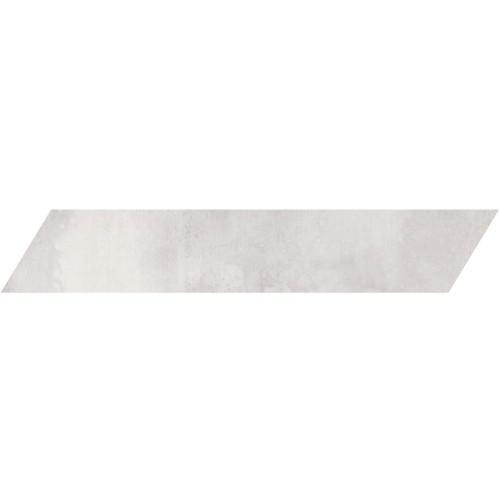 Metal Max Light Gray Left Chevron Glazed 4x24 Porcelain  Tile (Discontinued)