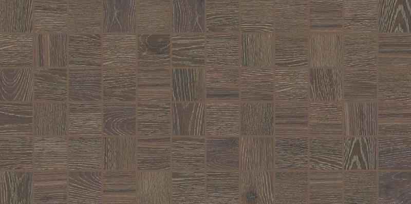Emerson Wood Brazilian Walnut 2x2, Unpolished, Brown, Square, Color-Body-Porcelain, Mosaic