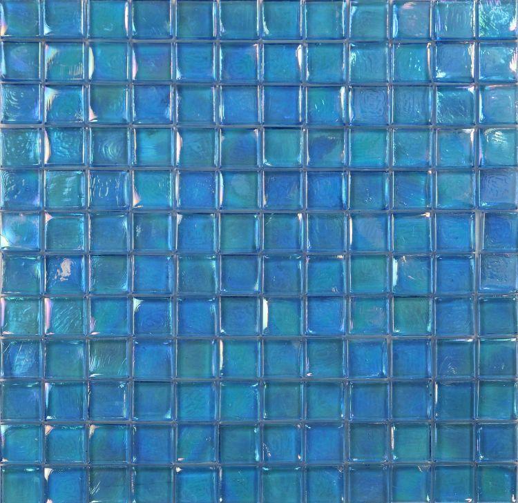Laguna Fancy Blue Square  Glass  Mosaic