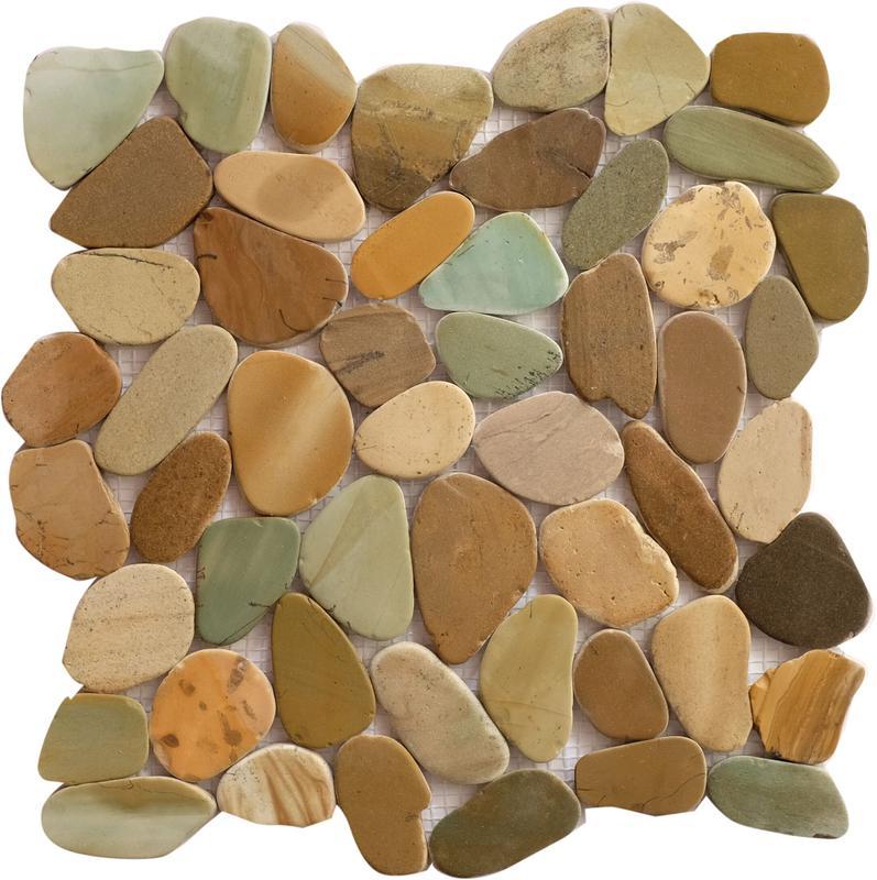 Pebble Mosaics Indonesian Bali Mix Matte   Mosaic