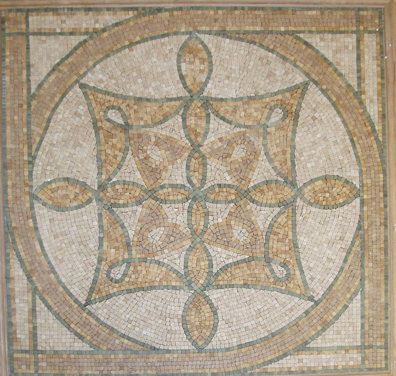 Medallions Rustica Small Pieces Polished Travertine  Medallion