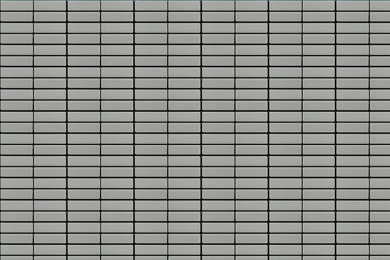 Porcelain Mosaic Grid Gray 1x3  Matte, Glazed