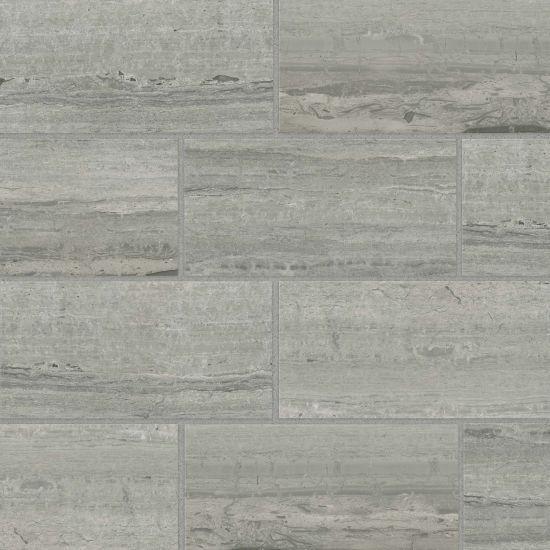 Classic 2.0 Travertino Grigio 12x24, Polished, Rectangle, Color-Body-Porcelain, Tile