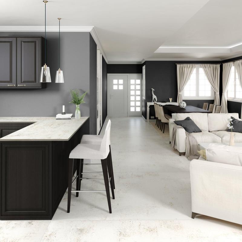 Group 2 Industrial Tiles Nilium Standard Size 56x56, Smooth-Matte, Light Grey, Square, Porcelain, Tile