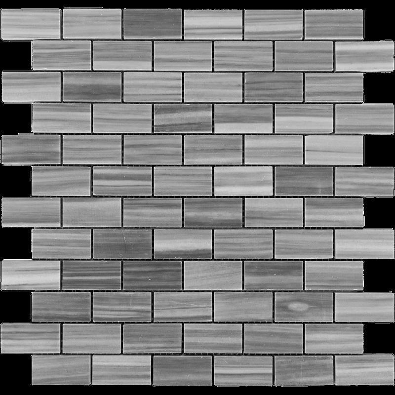 Marble Bardiglio 1x2 Brick Polished   Mosaic