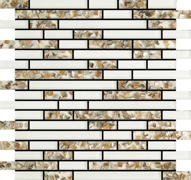 Linear Glass Pelasgus White Mosaic