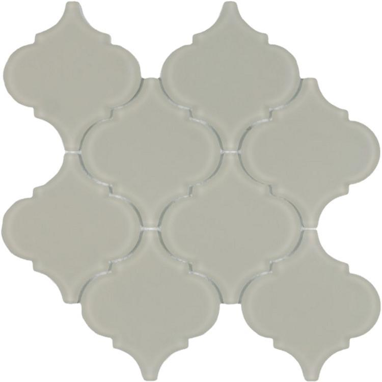 Arabesque Beige Frosted Glass  Mosaic