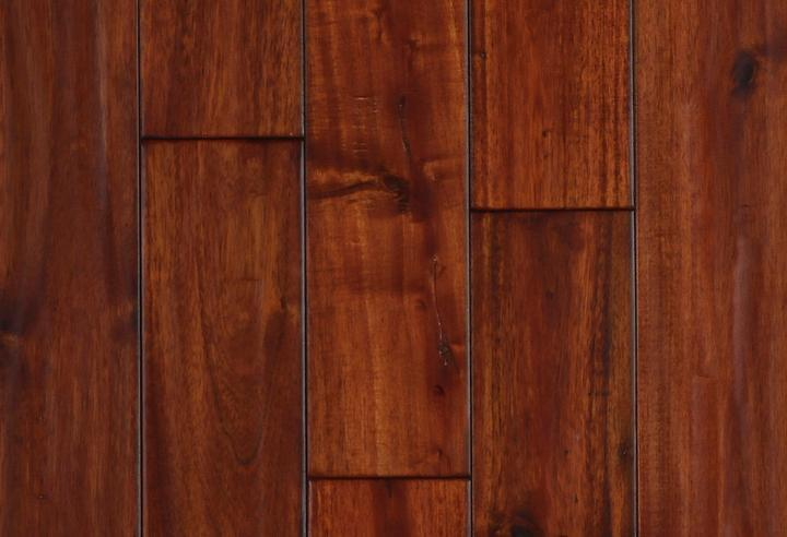 Engineered Selections Exotic Mahogany 90 in, Hand-Scraped, Dark Brown, Acacia, Engineered-Wood, Trim, (Discontinued)