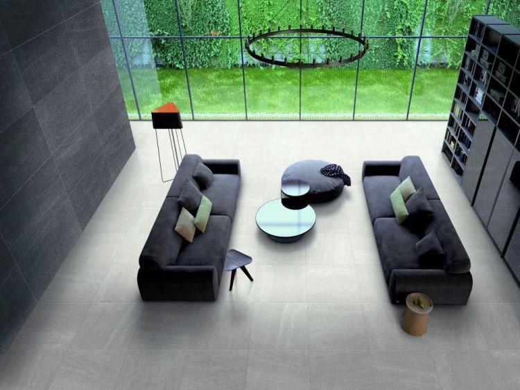 Basalt White Matte, Unglazed 24x48 Porcelain  Tile