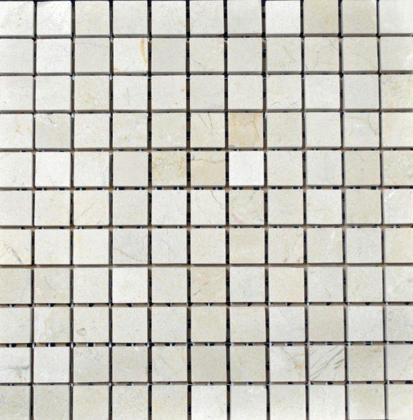 Marble Crema Marfil 1x1 Square Polished   Mosaic