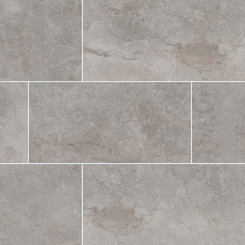 Ceramic Tiles Ansello Grey 12x24, Matte, Light Grey, Rectangle, Tile