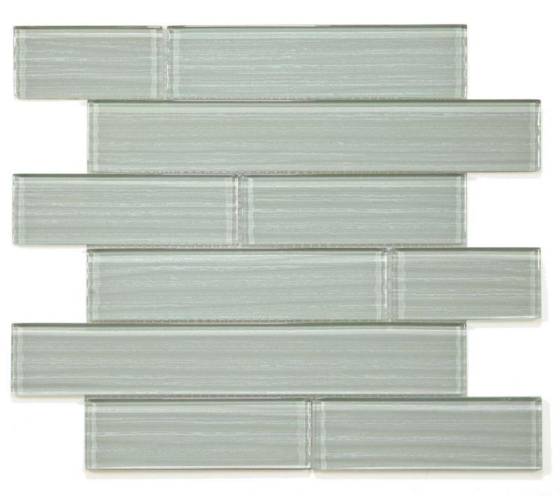 Casale Silver Grey Subway Glossy Glass  Mosaic