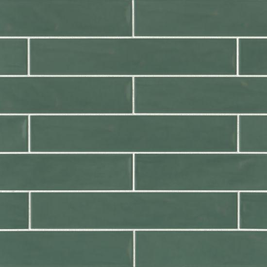Sorrento Verde Glossy 3x16 Ceramic  Tile