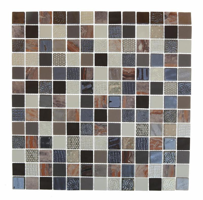 Cosmos Firenze Malla 1x1 Square Glossy, Matte Glass  Mosaic