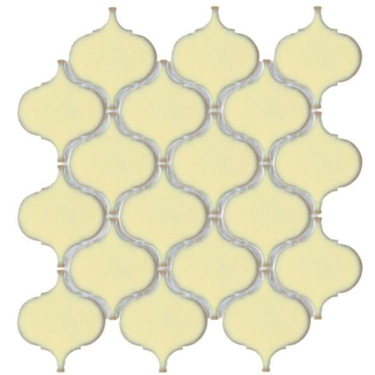 Hulu Ivory Arabesque  Porcelain  Mosaic