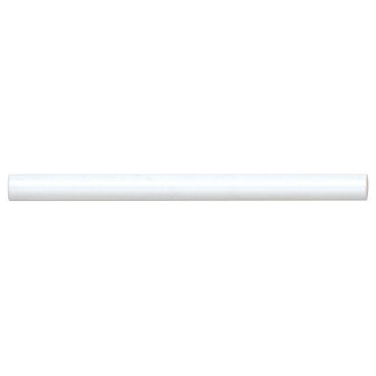 Reine White Glossy 0.5x8 Ceramic Jolly