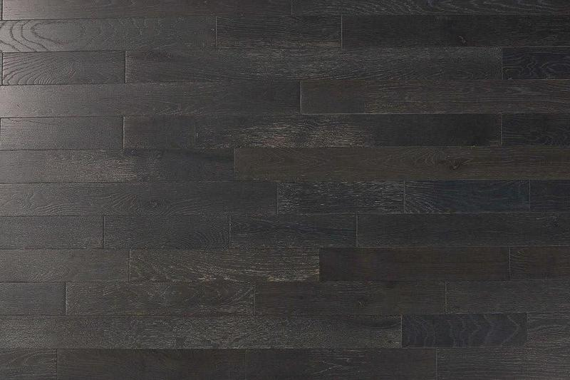 Oak Graphite 3xfree length, Wire-Brushed, Black, Hardwood, Wood, (Discontinued)