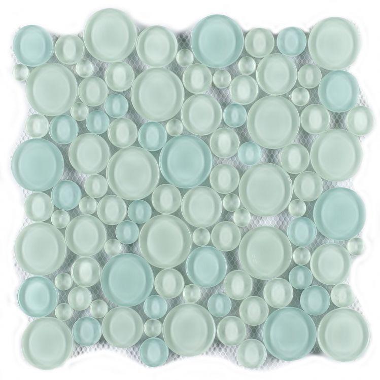 Circular Lady Green Glass  Mosaic