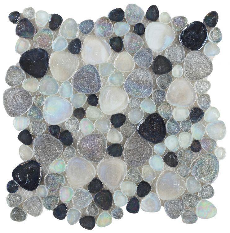 Hot Inari Grey Pebble  Glass  Mosaic