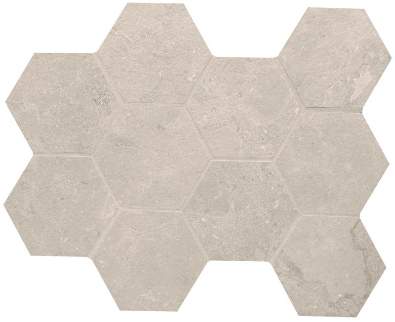 Lagos Sand 4 in, Honed, Hexagon, Color-Body-Porcelain, Mosaic