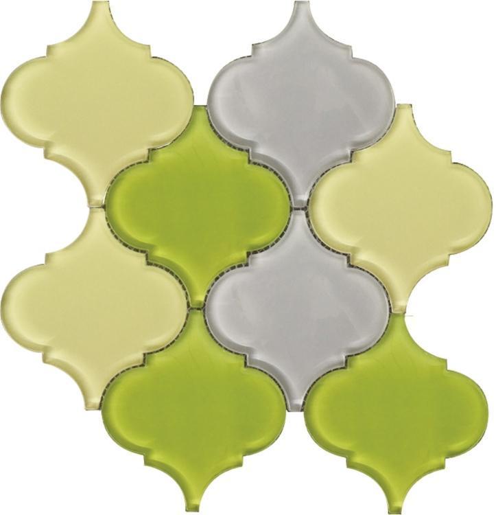 Arabesque Pebble Glass  Mosaic