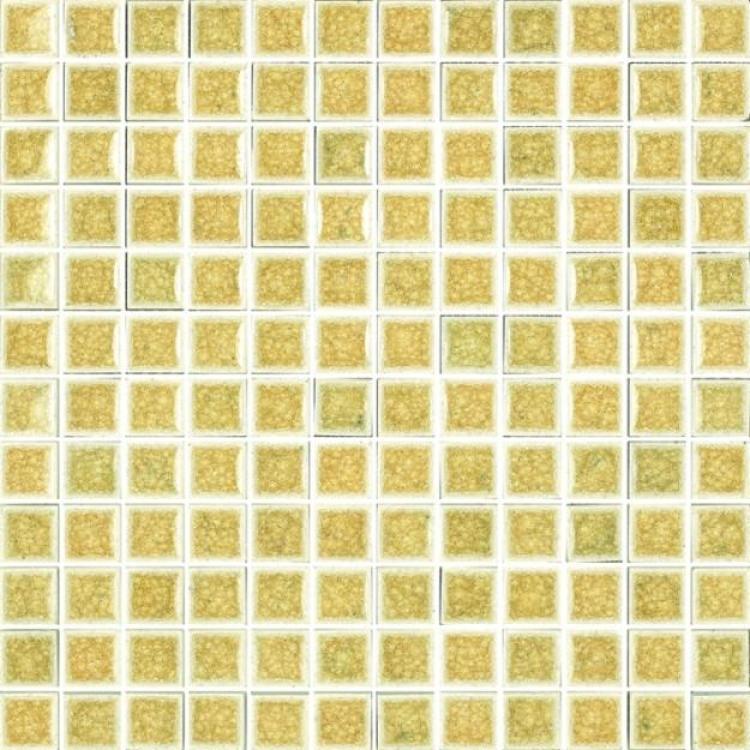 Jewel Cream Harvest 1x1 Square  Glass  Mosaic