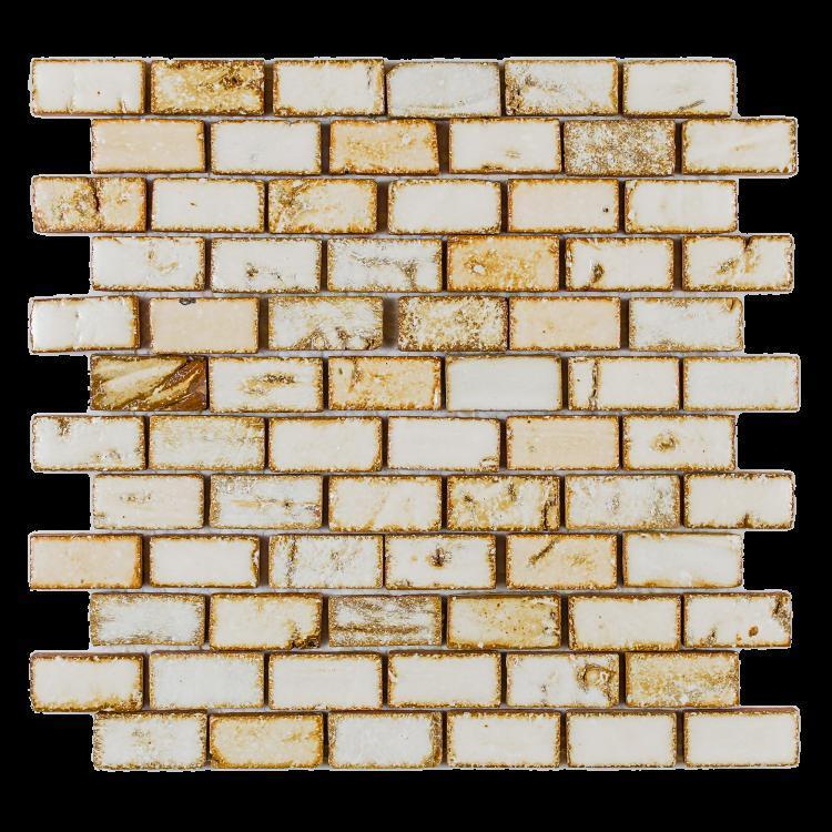 Roman Mango White Stack  Porcelain  Mosaic