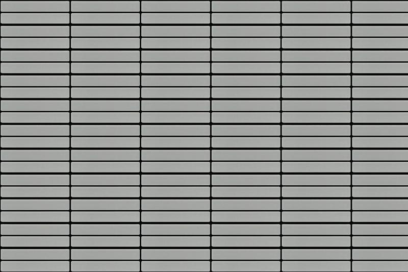 Porcelain Mosaic Grid Gray 1x6  Matte, Glazed