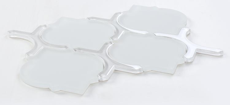 Arabesque Lantern White Glass  Mosaic