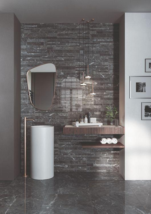 Selezione Marmi St Laurent Bricks Polished, Glazed 12x24 Porcelain  Tile